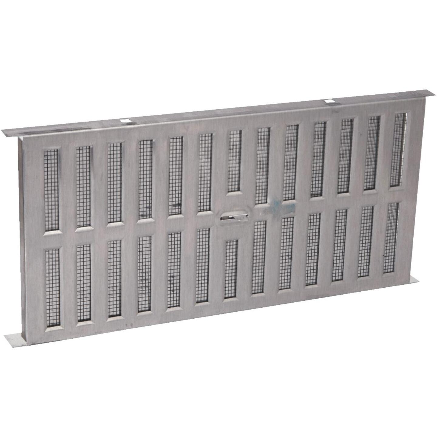 Air Vent 8 In. x 16 In. Aluminum Manual Foundation Vent with Adjustable Sliding Damper Image 1