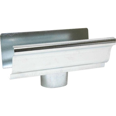 Amerimax 5 In. K Style Galvanized Gutter Drop Outlet