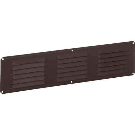 Air Vent 16 In. x 4 In. Brown Aluminum Under Eave Vent