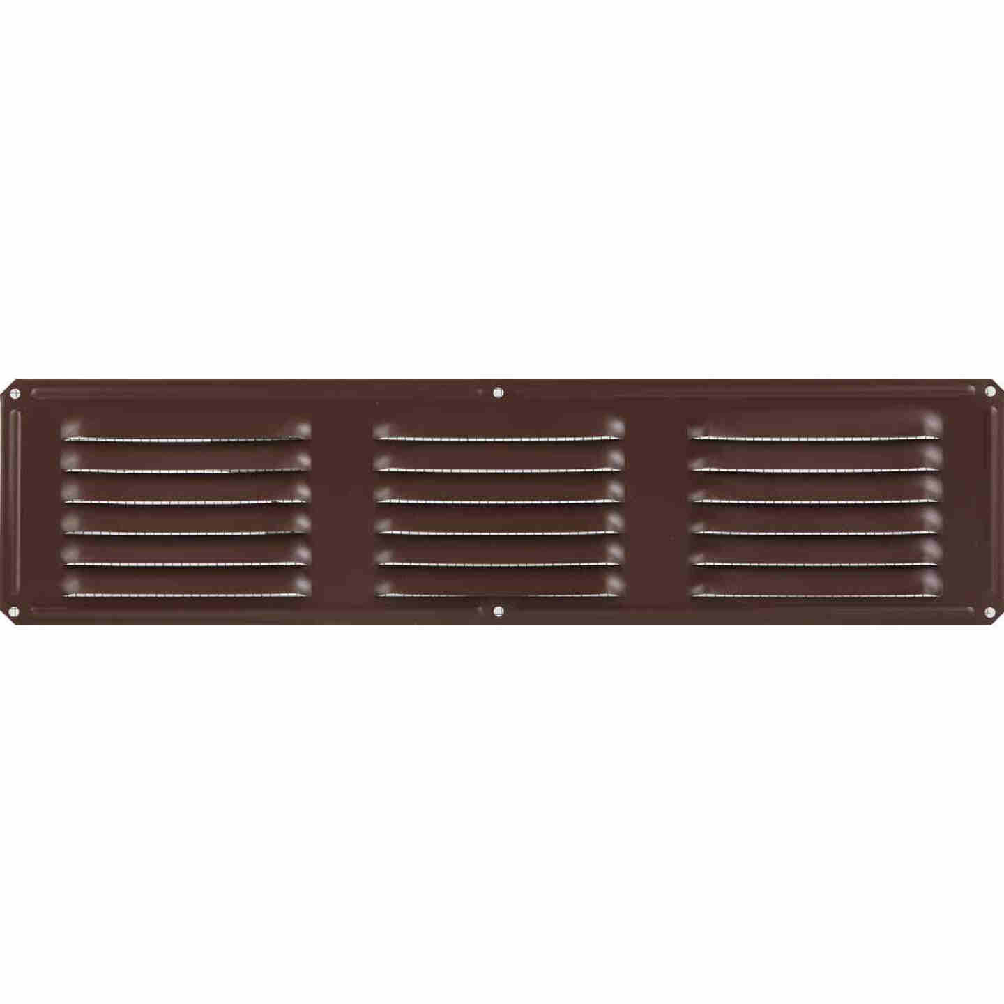 Air Vent 16 In. x 4 In. Brown Aluminum Under Eave Vent Image 2