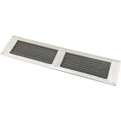 NorWesco 16 In. x 4 In. Galvanized Soffit Ventilator