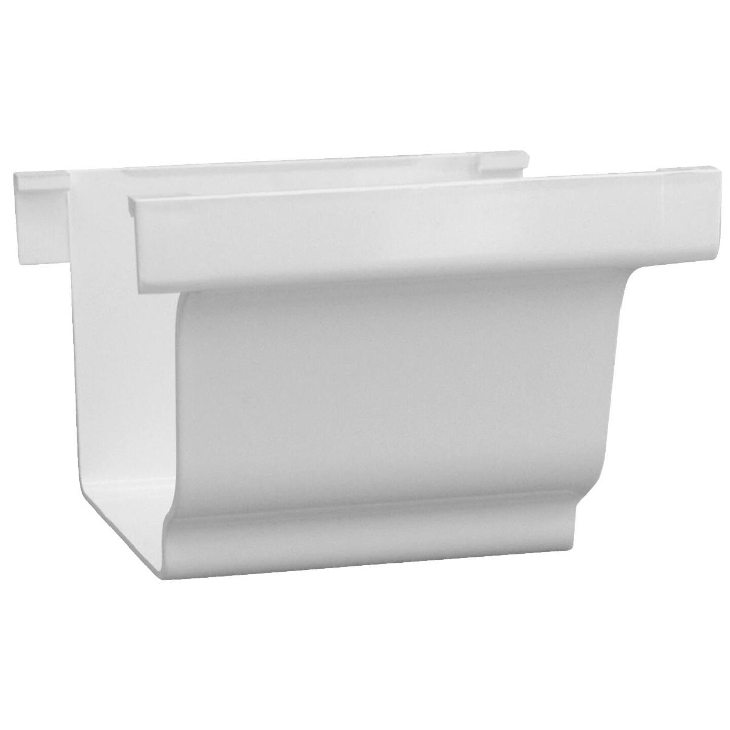 Repla K 5 In. Vinyl White Gutter Connector Image 1