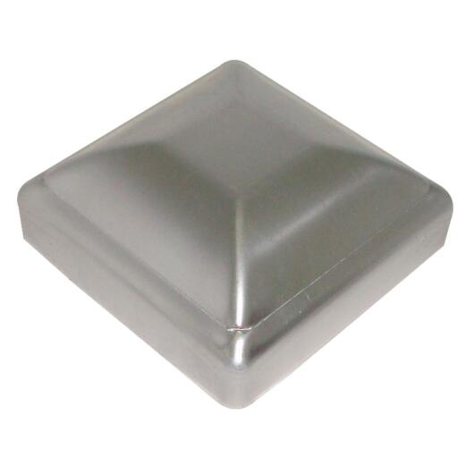 Hartford Standard 3-1/2 In. x 3-1/2 In. Solid Aluminum Press-On Silver Post Cap