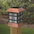 Deckorators 4 In. x 4 In. Dynasty Copper Designer Solar Post Cap Image 2