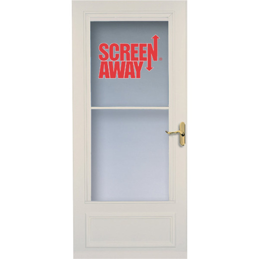 Larson Screenaway Lifestyle 36 In. W x 80 In. H x 1 In. Thick Almond Mid View DuraTech Storm Door