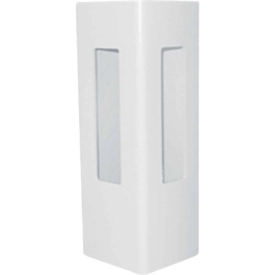 Outdoor Essentials 5 In. x 5 In. x 60 In. White Corner 2-Rail Fence Vinyl Post