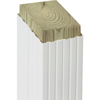 Beechdale 6 In. W x 6 In. H x 102 In. L White PVC Fluted Post Wrap
