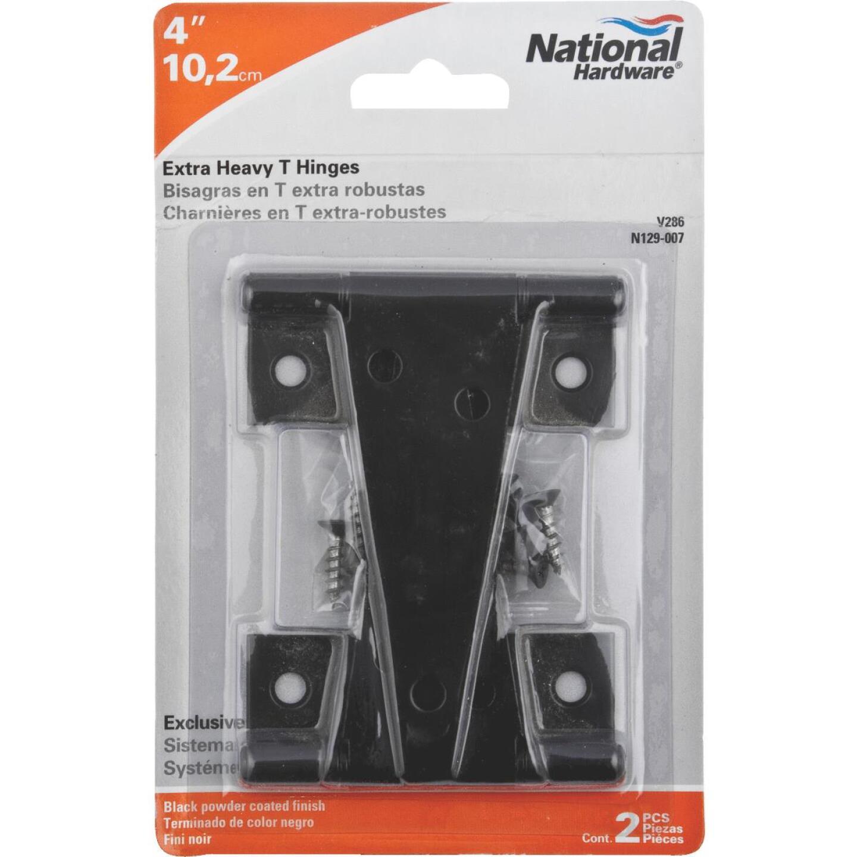 National 4 In. Black Heavy-Duty Tee Hinge (2-Pack) Image 2