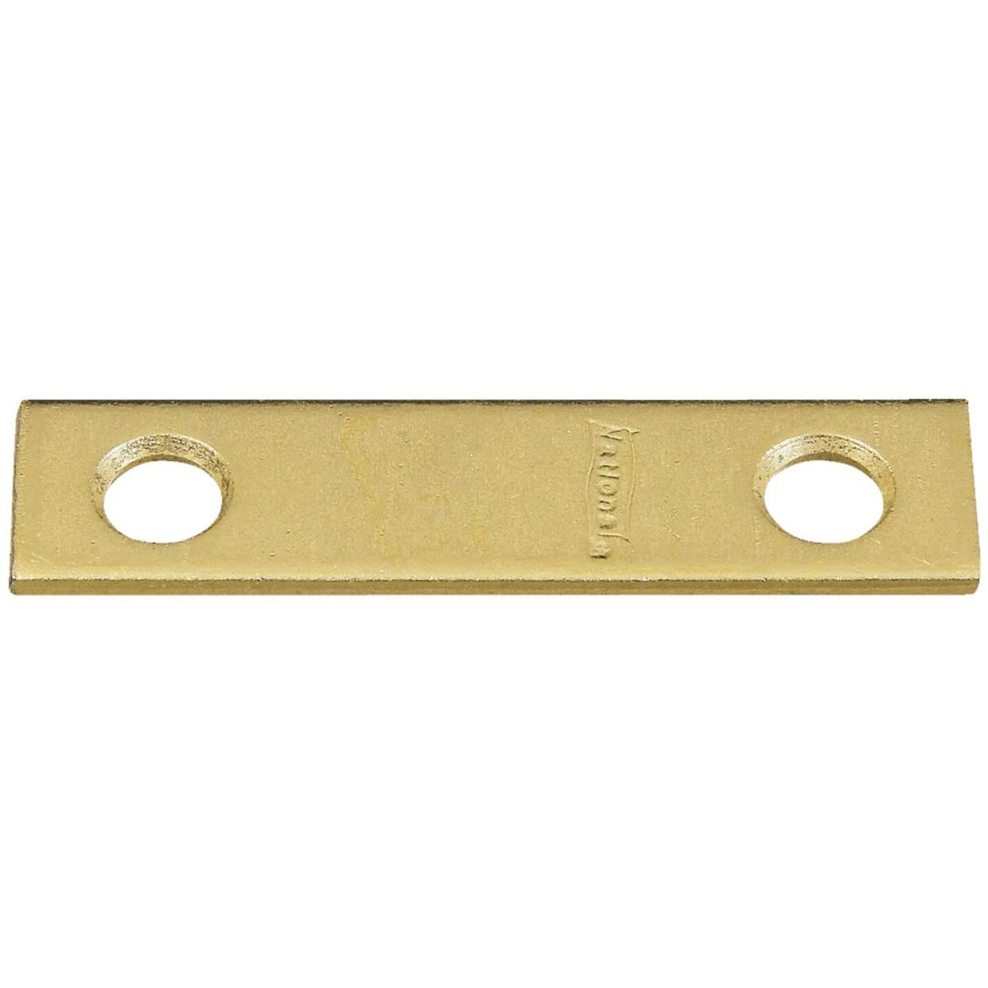 National Catalog 118 2 In. x 1/2 In. Brass Steel Mending Brace (4-Count) Image 1