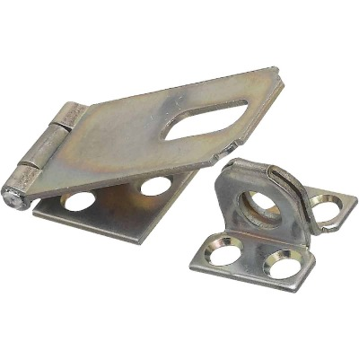 National 2-1/2 In. Zinc Non-Swivel Safety Hasp
