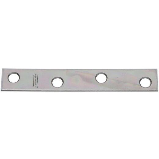 National Catalog 118 4 In. x 5/8 In. Zinc Steel Mending Brace (4-Count)