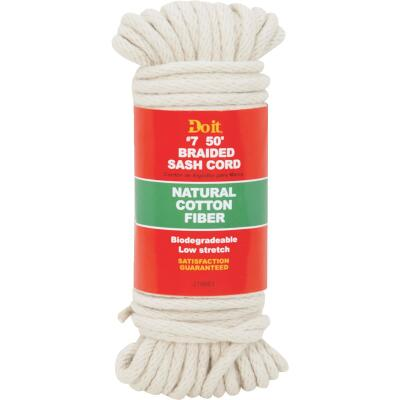 Do it 7/32 In. x 50 Ft. White Solid Braided Cotton Sash Cord