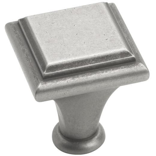 Amerock Manor Weathered Nickel Square 1 In. Cabinet Knob