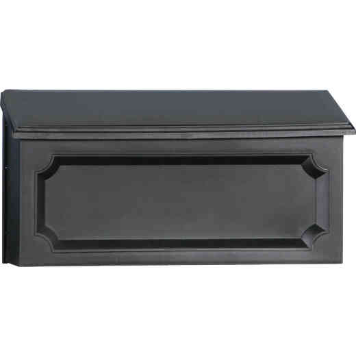 Gibraltar Windsor Black Horizontal Wall Mount Mailbox