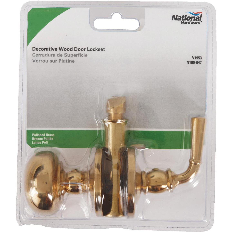 National Polished Brass Storm Door Knob Latch Image 2