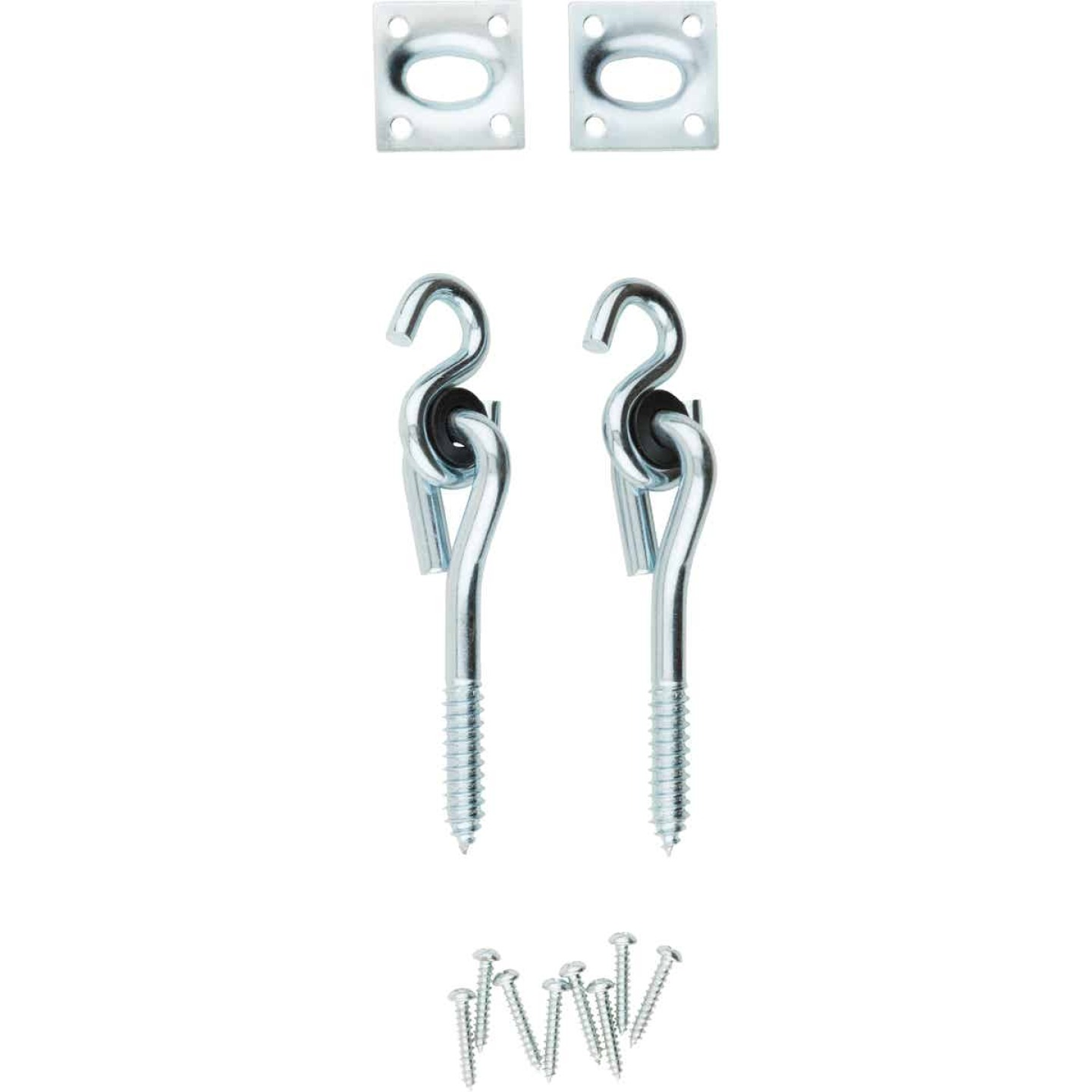 National Zinc Plated with WeatherGuard Steel Lag Screw Swing Hook Kit (2-Pack) Image 1