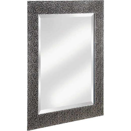 Erias Home Designs 25.5 In. W. x 35.5 In. H. Chromed Espresso Framed Wall Mirror