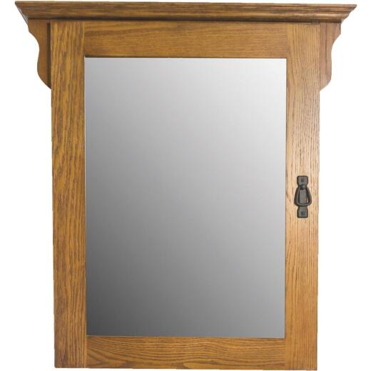 CraftMark Craftsmen Estate Oak 30 In. W x 38 In. H Vanity Mirror