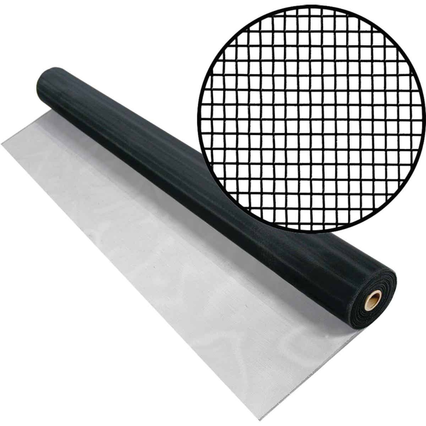 Phifer 24 In. x 100 Ft. Black Aluminum Screen Image 1