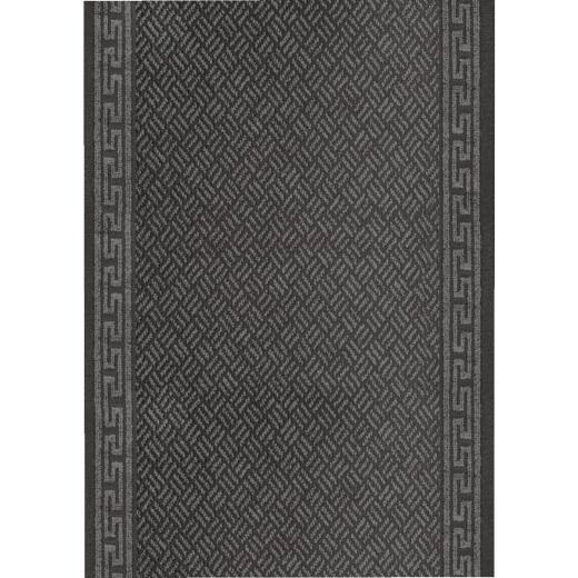 Multy Home Greek Key 26 In. x 60 Ft. Gray Carpet Runner, Indoor/Outdoor