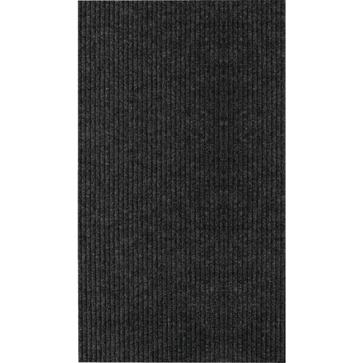 Multy Home Concord 26 In. x 50 Ft. Charcoal Carpet Runner, Indoor/Outdoor