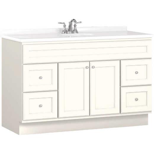 Bertch Northbrook 48 In. W x 34-1/2 In. H x 21 In. D White Vanity Base, 2 Door/4 Drawer