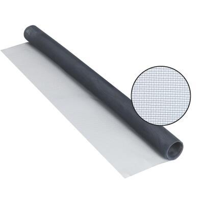 Phifer 48 In. x 84 In. Charcoal Aluminum Screen Ready Rolls