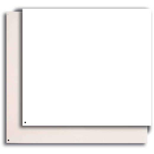 Broan-Nutone 24 In. x 30 In. Aluminum Backsplash Panel, Reversible White/Almond