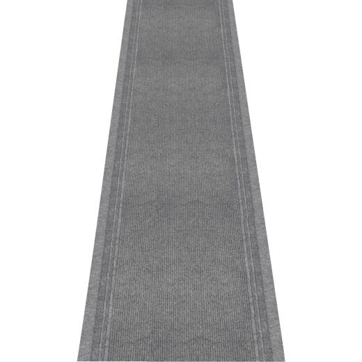 Multy Home Tracker 26 In. x 60 Ft. Gray Carpet Runner, Indoor/Outdooor