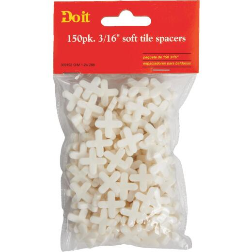 Do it 3/16 In. White Soft Tile Spacers (150-Pack)