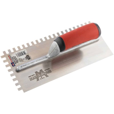 Marshalltown 1/4 In. x 3/8 In. Square Notched Trowel