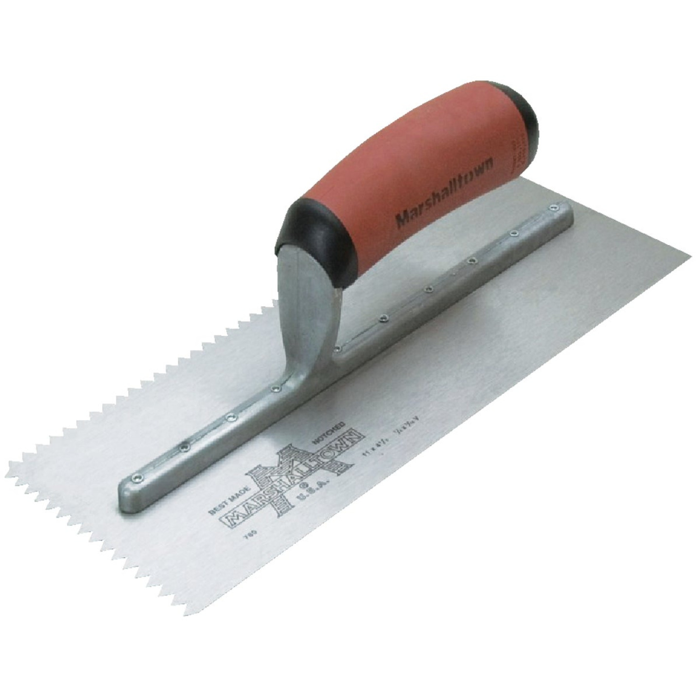 Marshalltown 3/16 In. V-Notched Trowel w/DuraSoft Handle Image 1