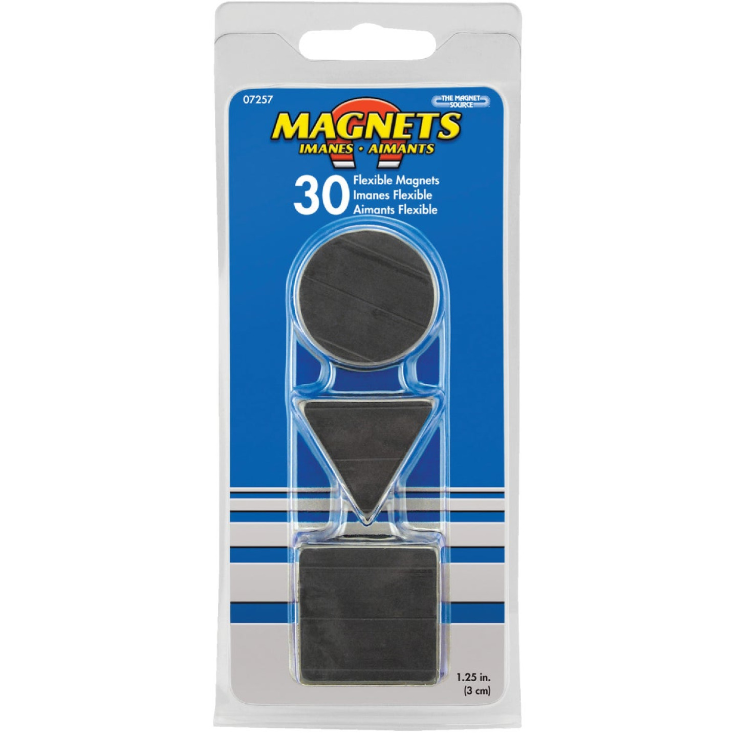 Master Magnetics Black Assorted Magnetic Shapes (30-Pack) Image 2