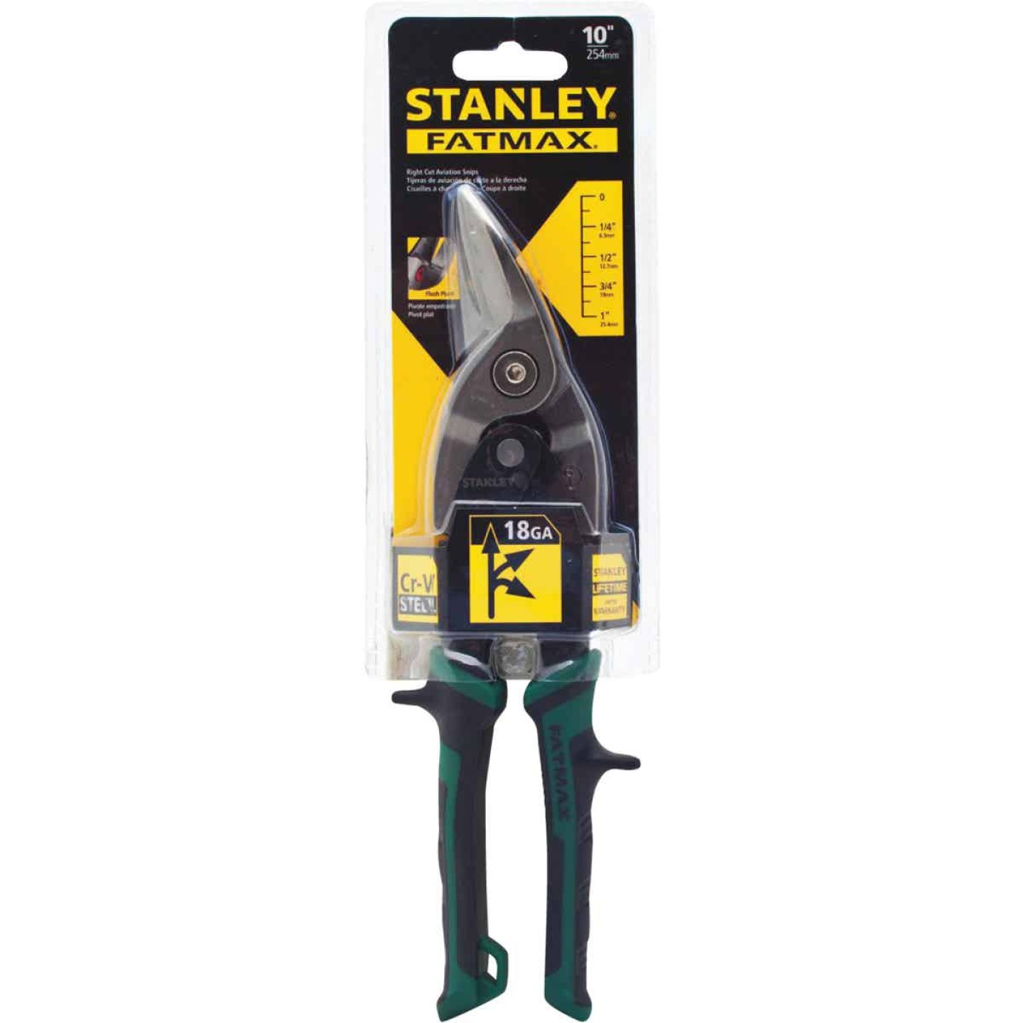 Stanley FatMax 10 In. Aviation Right Snips Image 1