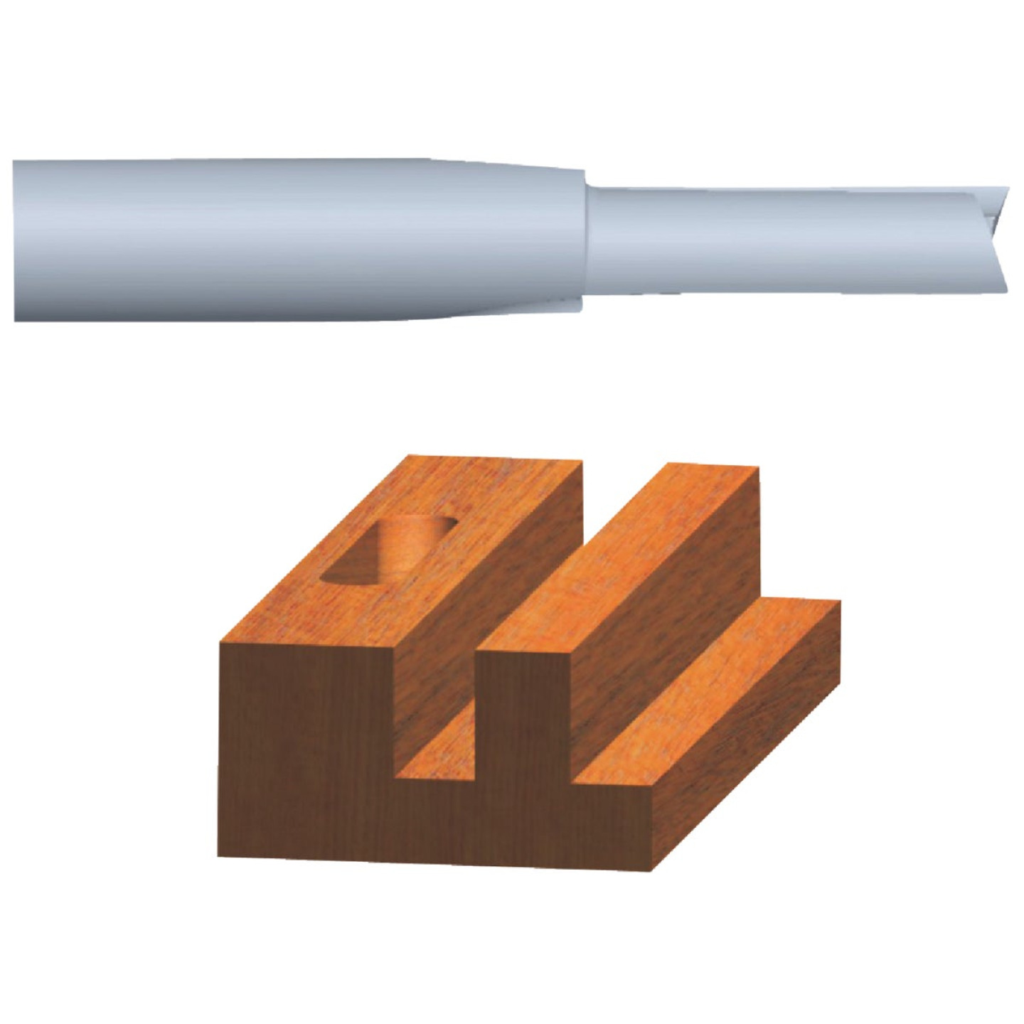 Vermont American Carbide Tip 5/8 In. Straight Bit Image 1