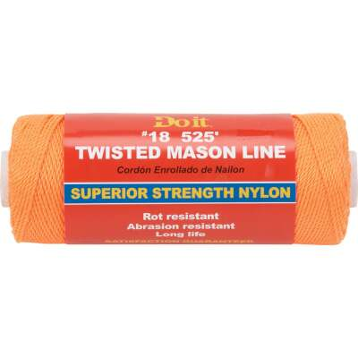 Do it 525 Ft. Fluorescent Orange Twisted Nylon Mason Line