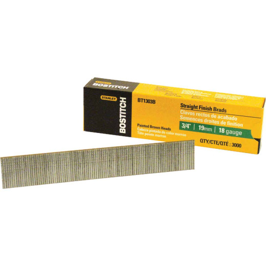 Bostitch 18-Gauge Coated Brad Nail, 3/4 In. (3000 Ct.)