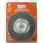 Weiler Vortec 6 In. Crimped, Fine 5/8 Bench Grinder Wire Wheel Image 2