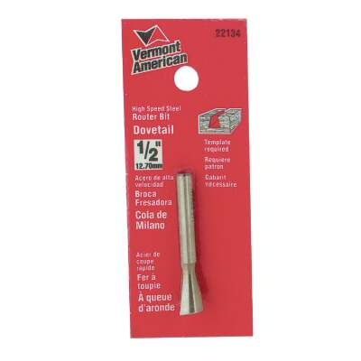 Vermont American Carbide Dovetail 1/2 In. Dovetail Bit