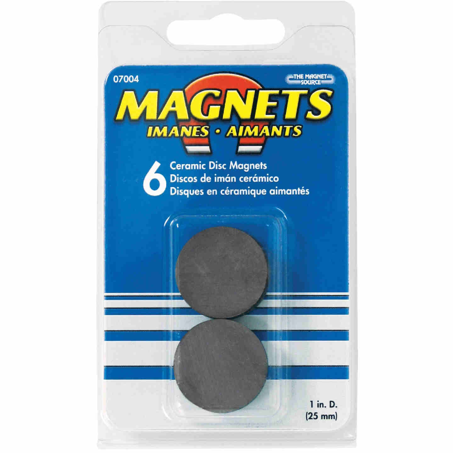 Master Magnetics Ceramic 1 in. Magnetic Discs (6-Pack) Image 2