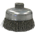 Weiler Vortec 6 In. Crimped 0.02 In. Angle Grinder Wire Brush Image 1