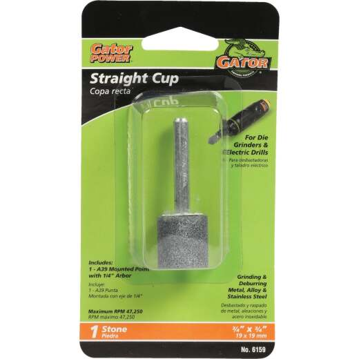 Gator Blade Straight Cup 3/4 In. x 3/4 In. Grinding Stone