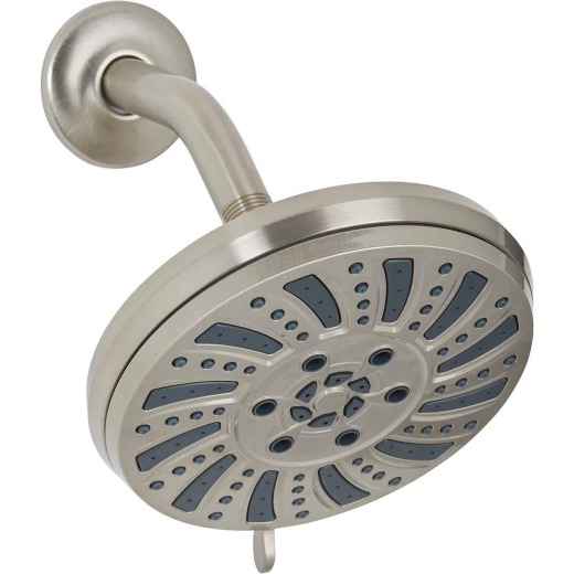 Home Impressions 6-Spray 1.8 GPM Fixed Showerhead, Brushed Nickel