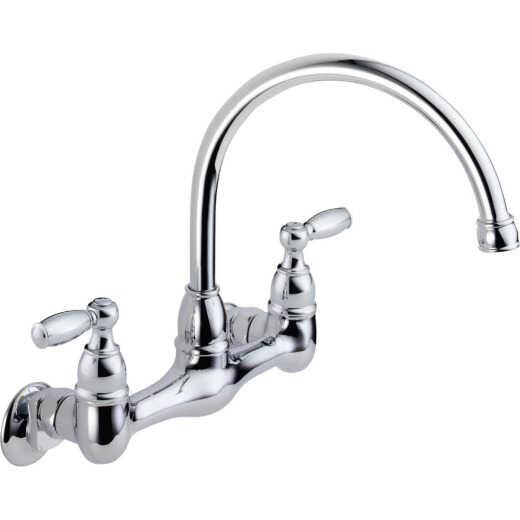 Peerless Chrome 2-Handle Utility Faucet