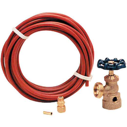 Dial Water Hook-Up Kit with 25 Ft. Poly Tubing
