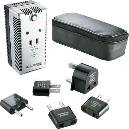Franzus Travel Smart 2000W Auto Adjust Foreign to US Voltage Converter Set