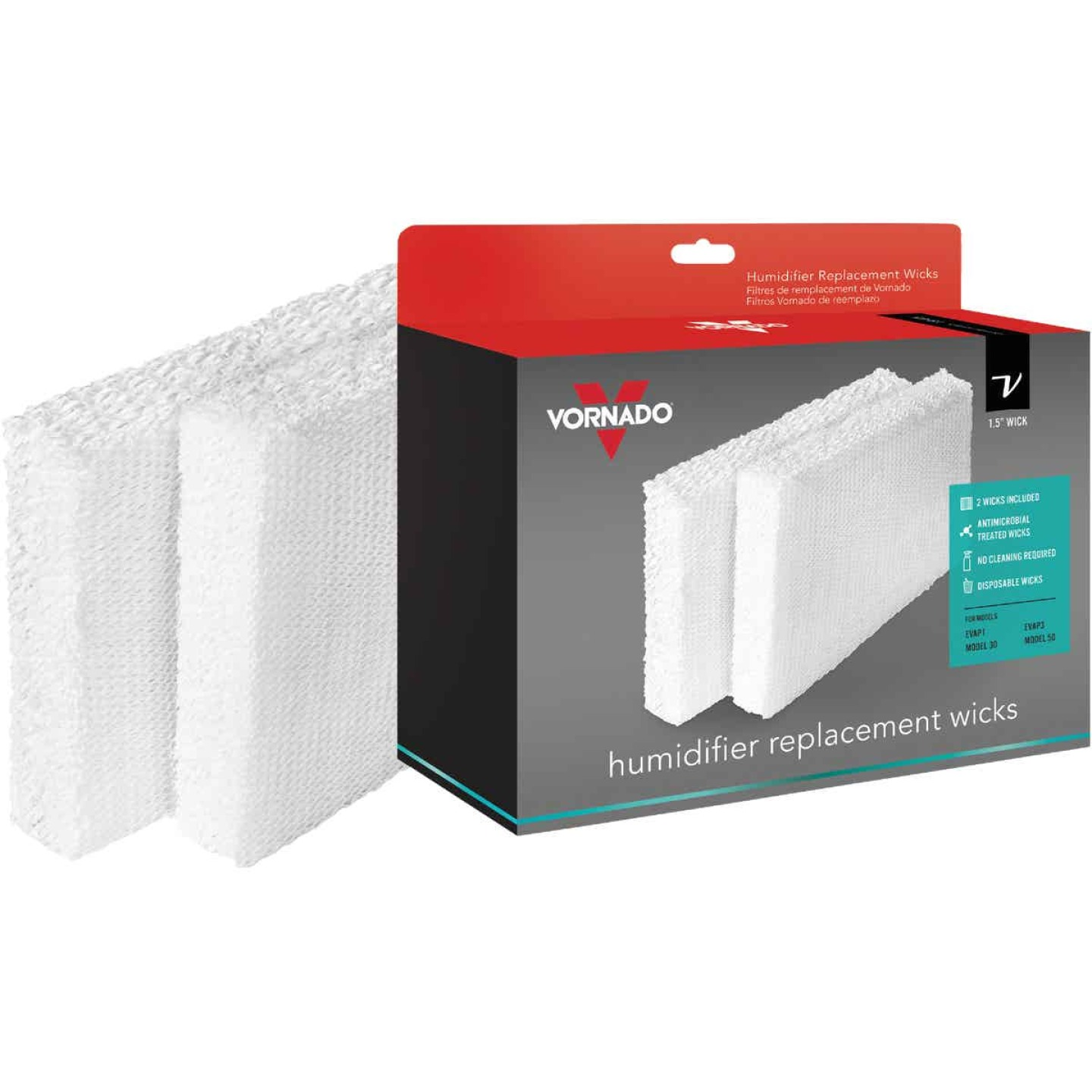 Vornado Replacement Evaporative Humidifier Wick Filter (2-Pack) Image 1