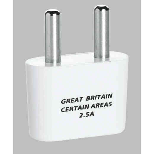 Franzus 2-Prong Foreign Plug Adapter, Great Britain
