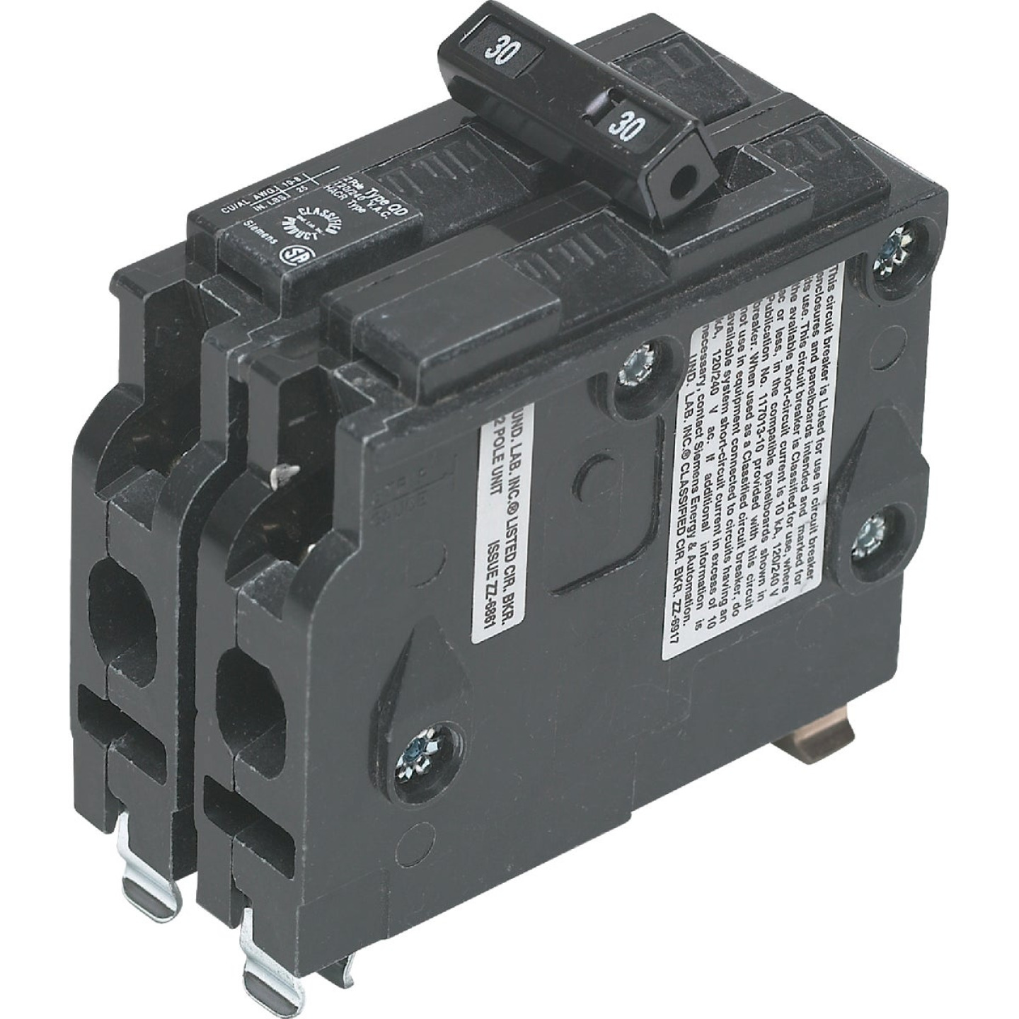 Connecticut Electric 30A Double-Pole Standard Trip Packaged Replacement Circuit Breaker For Square D Image 1