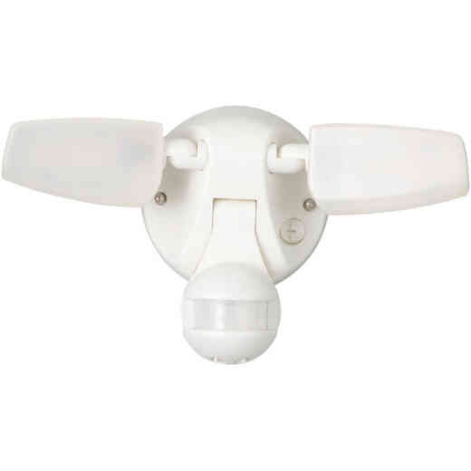 Halo Selectable Color Temperature White Motion Sensing LED Twin Head Floodlight Fixture